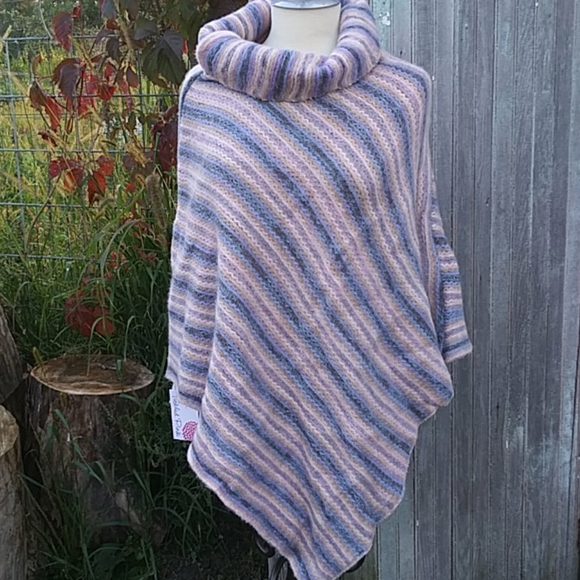 Sweater Poncho Soft Pastels OS NWT Boutique